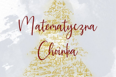 Plakat Konkursu Matematyczna choinka