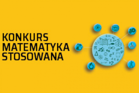 grafika informująca o konkursie Matematyka Stosowana 2020