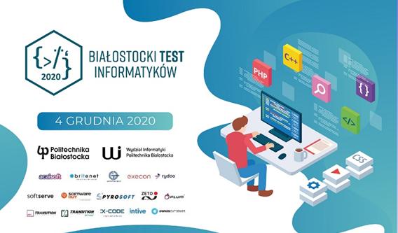 Plakat Białostockiego Testu Informatyków 2020