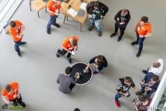 Turniej Robotów EASTROBO 2018 Politechnika Białostocka / fot. Pawel Tadejko  Organizatorem jest studenckie koło naukowe Mobilne Systemy Inteligentne, działające przy Wydziale Informatyki PB przy współpracy z Samorządem Studentów Politechniki Białostockiej.