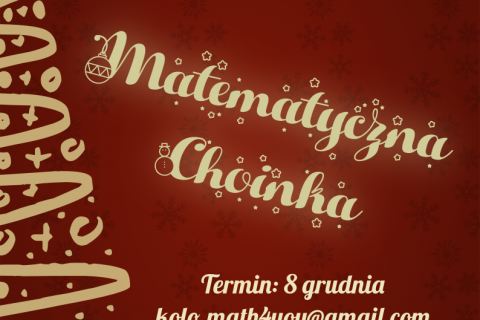 Plakat Matematyczna Choinka